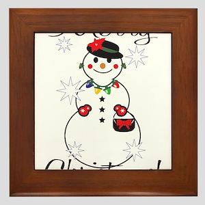 Merry Christmas! Framed Tile