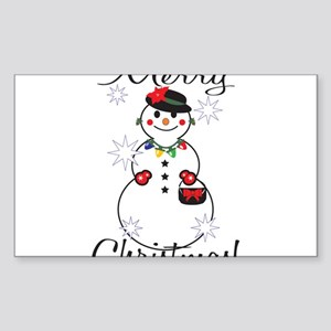 Merry Christmas! Sticker (Rectangle)