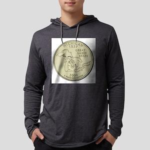 Michigan Quarter 2004 Basic Mens Hooded Shirt