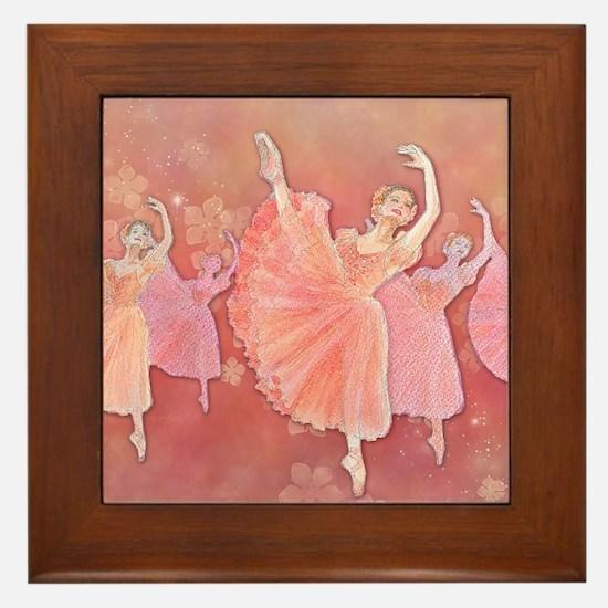 Waltz of the Flowers Framed Tile