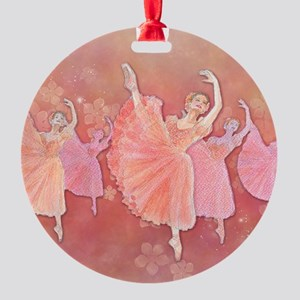 Waltz of the Flowers Round Ornament