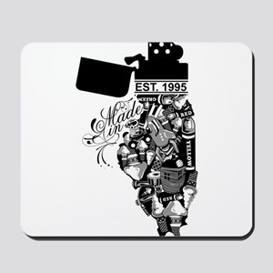 Chad G. Made in Illinois Mousepad