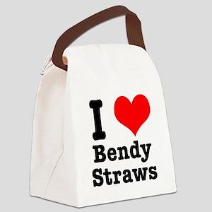 bendy straws Canvas Lunch Bag