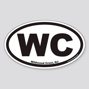 Wildwood Crest WC Euro Oval Sticker