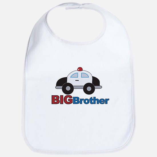 Police Car Big Brother Bib