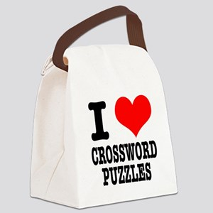 CROSSWORD PUZZLES Canvas Lunch Bag