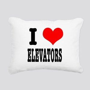 ELEVATORS Rectangular Canvas Pillow