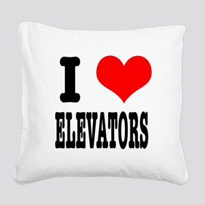 ELEVATORS Square Canvas Pillow