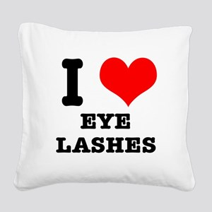EYELASHES Square Canvas Pillow