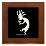 Kokopelli Martini Drinker Framed Tile