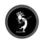 Kokopelli Martini Drinker Wall Clock
