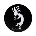Kokopelli Martini Drinker Ornament (Round)