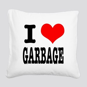 GARBAGE Square Canvas Pillow