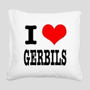 GERBILS Square Canvas Pillow