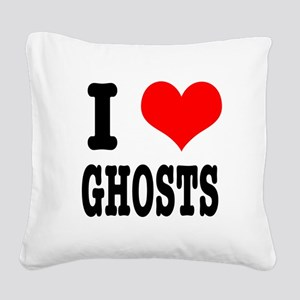 GHOSTS Square Canvas Pillow