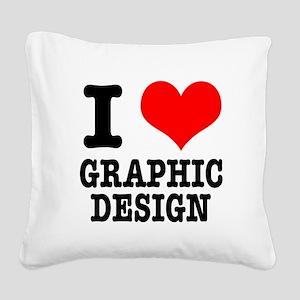 GRAPHIC DESIGN Square Canvas Pillow