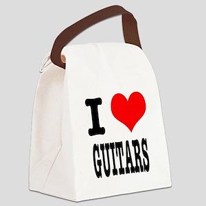 GUITARS Canvas Lunch Bag