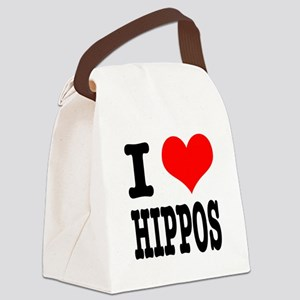 HIPPOS Canvas Lunch Bag