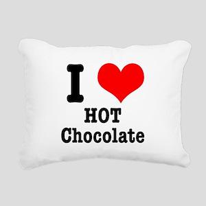 hot chocolate Rectangular Canvas Pillow