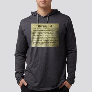 January 3rd Mens Hooded Shirt