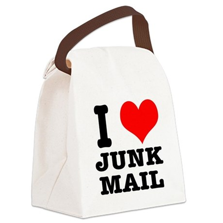 JUNK MAIL Canvas Lunch Bag