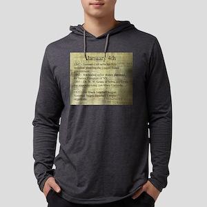 January 4th Mens Hooded Shirt