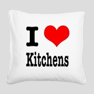 kitchens Square Canvas Pillow