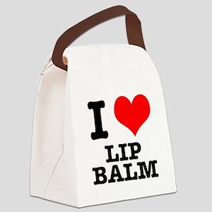 LIP BALM Canvas Lunch Bag