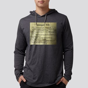 January 8th Mens Hooded Shirt