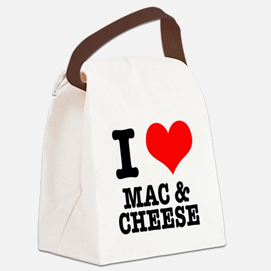 MAC CHEESE.png Canvas Lunch Bag