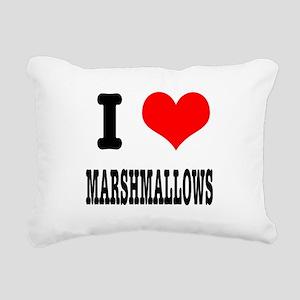 marshmallows Rectangular Canvas Pillow