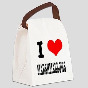 marshmallows Canvas Lunch Bag