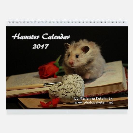 Hamster Wall Calendar 2017