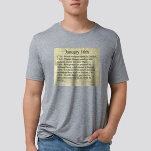 January 16th Mens Tri-blend T-Shirt
