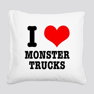 monster trucks Square Canvas Pillow