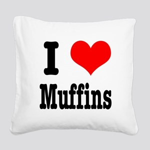muffins Square Canvas Pillow
