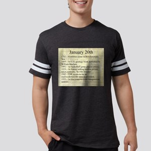 January 20th Mens Football Shirt