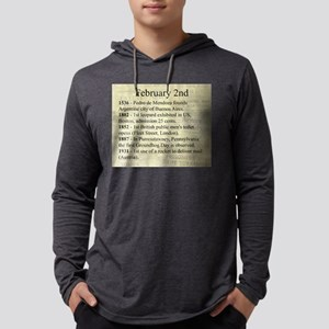 February 2nd Mens Hooded Shirt
