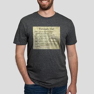 February 2nd Mens Tri-blend T-Shirt