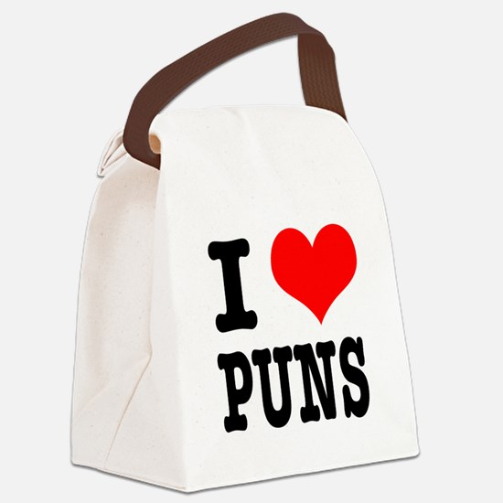 PUNS.png Canvas Lunch Bag