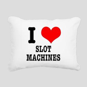 SLOT MACHINES Rectangular Canvas Pillow