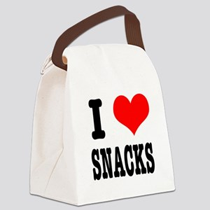 snacks Canvas Lunch Bag