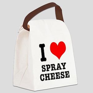 spray cheese Canvas Lunch Bag