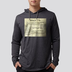 March 27th Mens Hooded Shirt