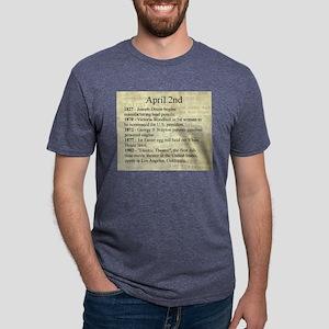 April 2nd Mens Tri-blend T-Shirt