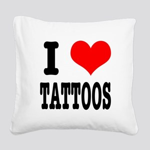 TATTOOS Square Canvas Pillow