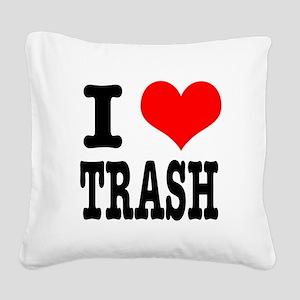 TRASH Square Canvas Pillow