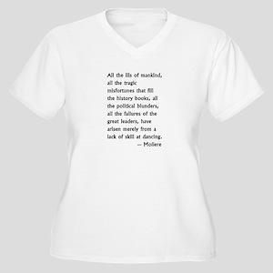 dance skill Women's Plus Size V-Neck T-Shirt