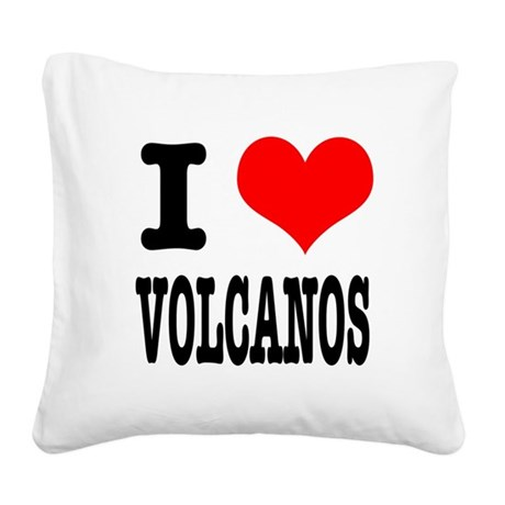 VOLCANOS.png Square Canvas Pillow