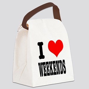 WEEKENDS Canvas Lunch Bag
